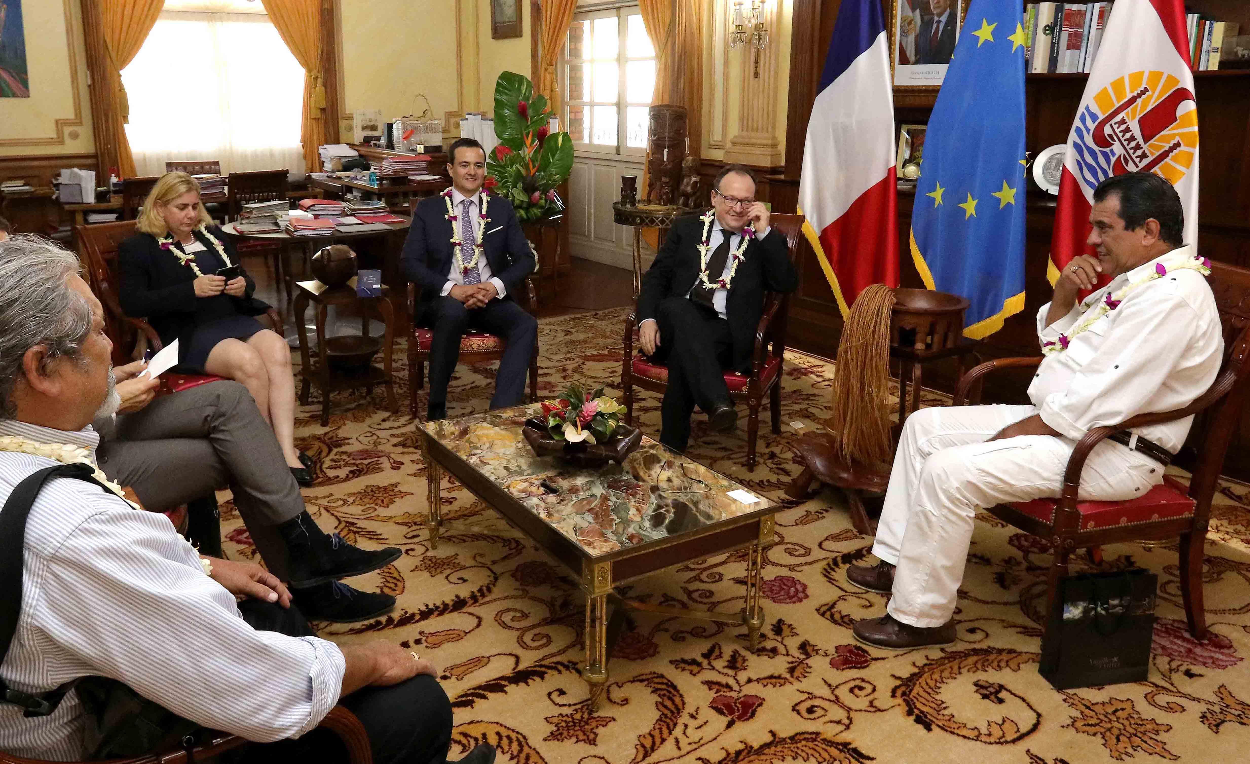 Fritch rencontre le vice-président de la Banque européenne d'investissement