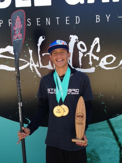 Tuki Tissot, 17 ans, se fait remarquer aux Pacific Paddle Game en Californie