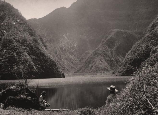Le lac Vaihiria en 1920. Photo Lucien Gauthier