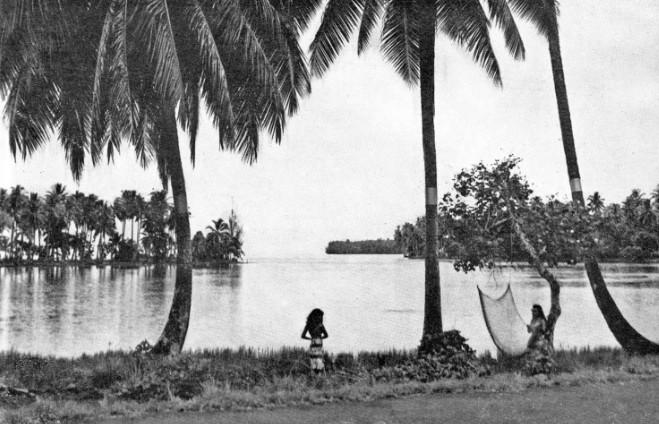 La pointe Tehoro à Mataiea en 1956. Photo Hollande