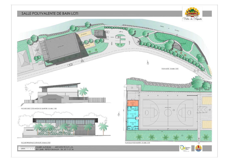 Le projet urbain est aménagé sur près de 4000 m2 en bordure de la Fautaua, au fond de la vallée de Titioro à Papeete.