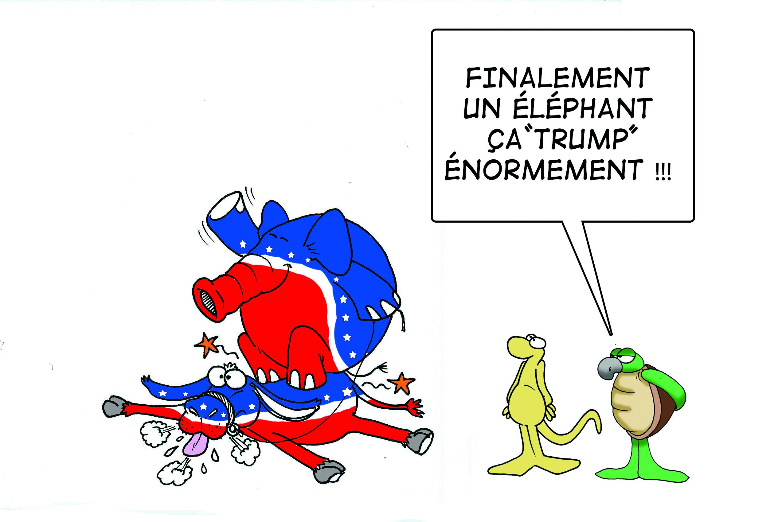 """ Les élections Trump énormément "" par Munoz"