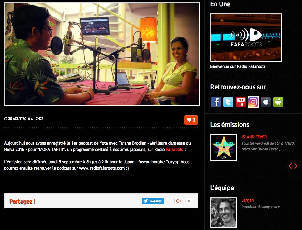 Fafaroots, la première radio en ligne du territoire