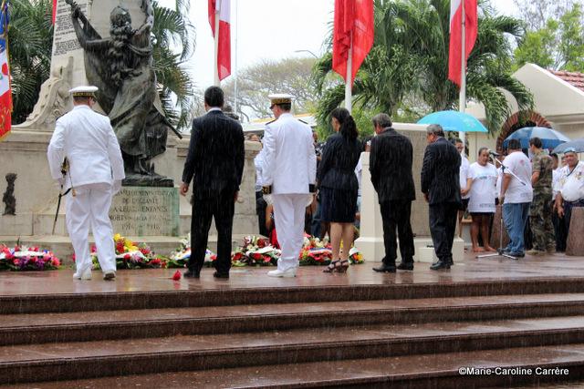 Une cérémonie du 11 novembre sous la pluie