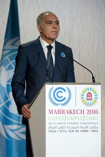 """Lutte contre le réchauffement : """"il n'y aura pas de retour en arrière"""" (président de la COP22)"""
