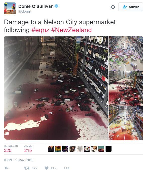 Un journaliste de CNN a publié les photos de dommages causés dans un supermarché
