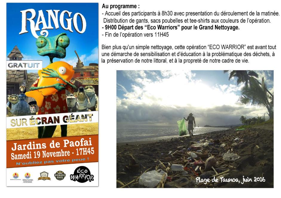 Opération Eco Warrior: 6 tonnes de déchets récoltés à Papeete
