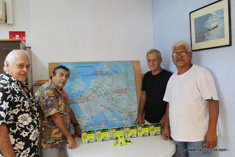 Les membres de la FEPSM lors de la présentation des balises en août dernier.