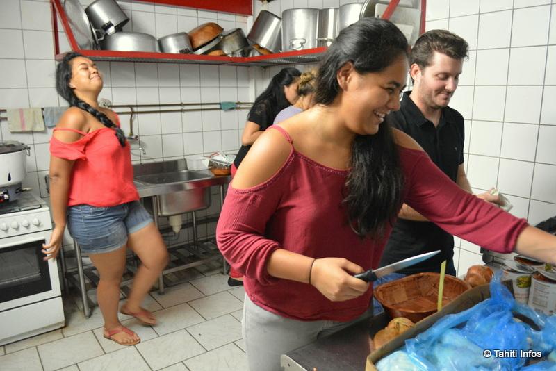 Ces tudiants qui vont nourrir les sans abris for Art et cuisine tahiti