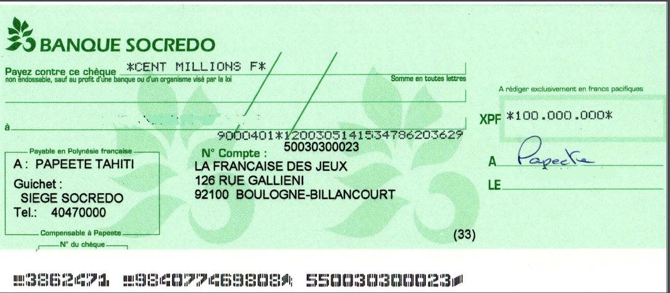 Le gagnant des 100 millions Fcfp au jeu My Million s'est manifesté