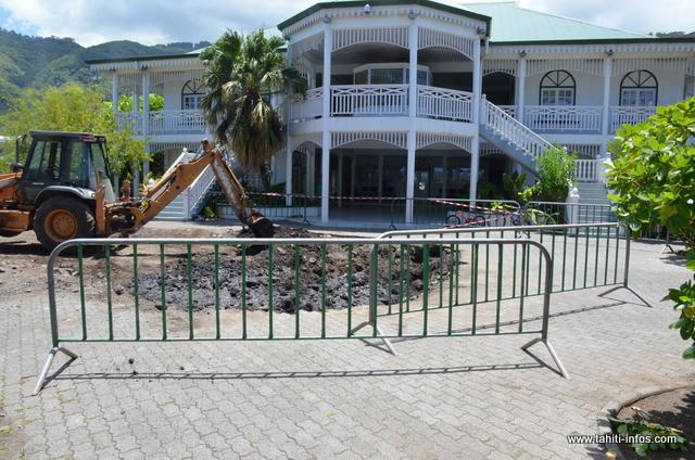 La mairie de Paea aura bientôt un nouvel espace vert.