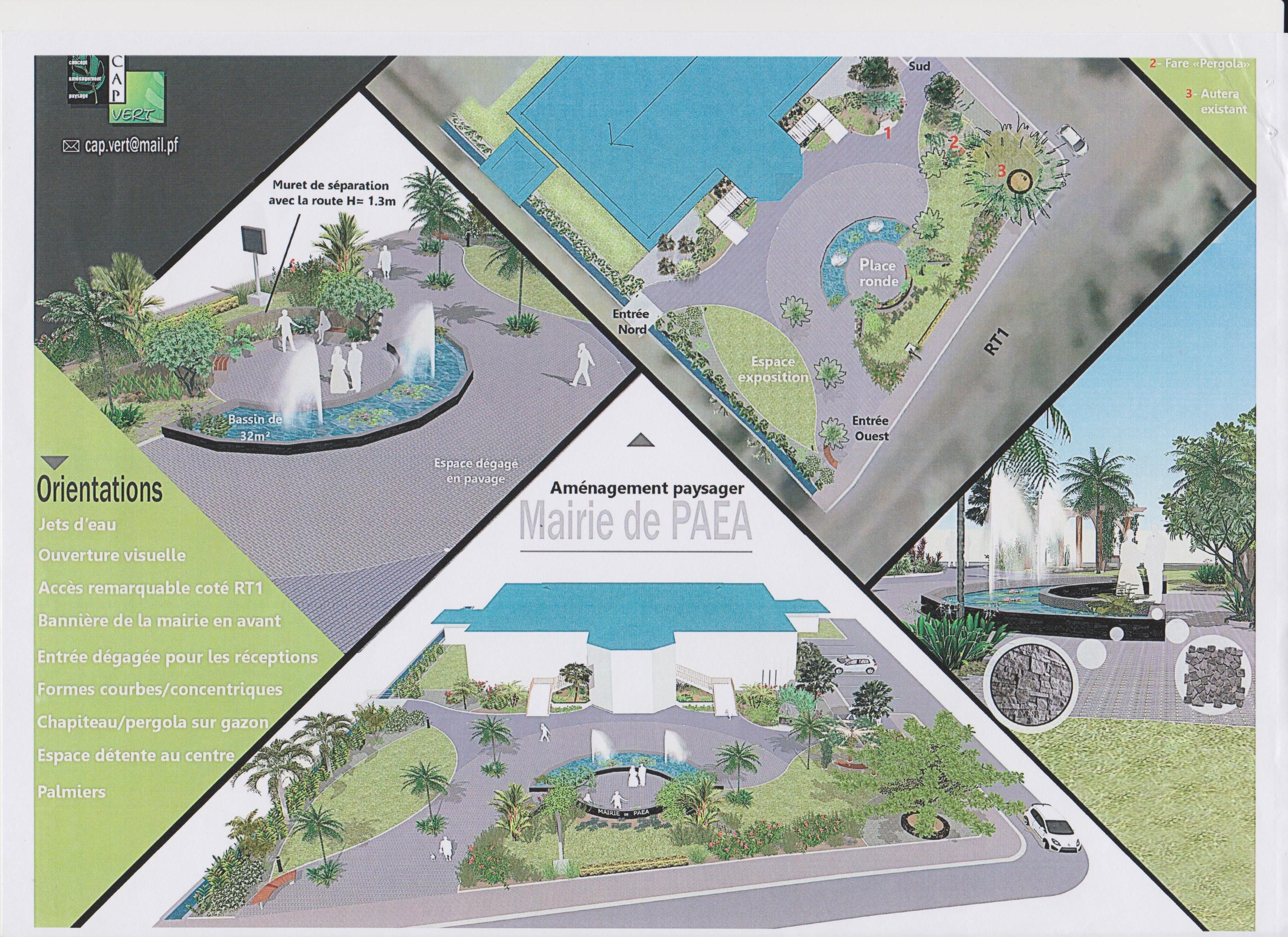 Le futur jardin permettra aux véhicules de se retrouver sur le perron. Un bassin plus grand et harmonieux sera construit. Un espace pour les manifestations sera également aménagé.