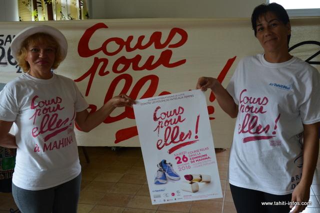 """""""Cours pour elles"""" à Mahina, deux courses adaptées à toutes les personnes souhaitant faire du sport pour la bonne cause."""