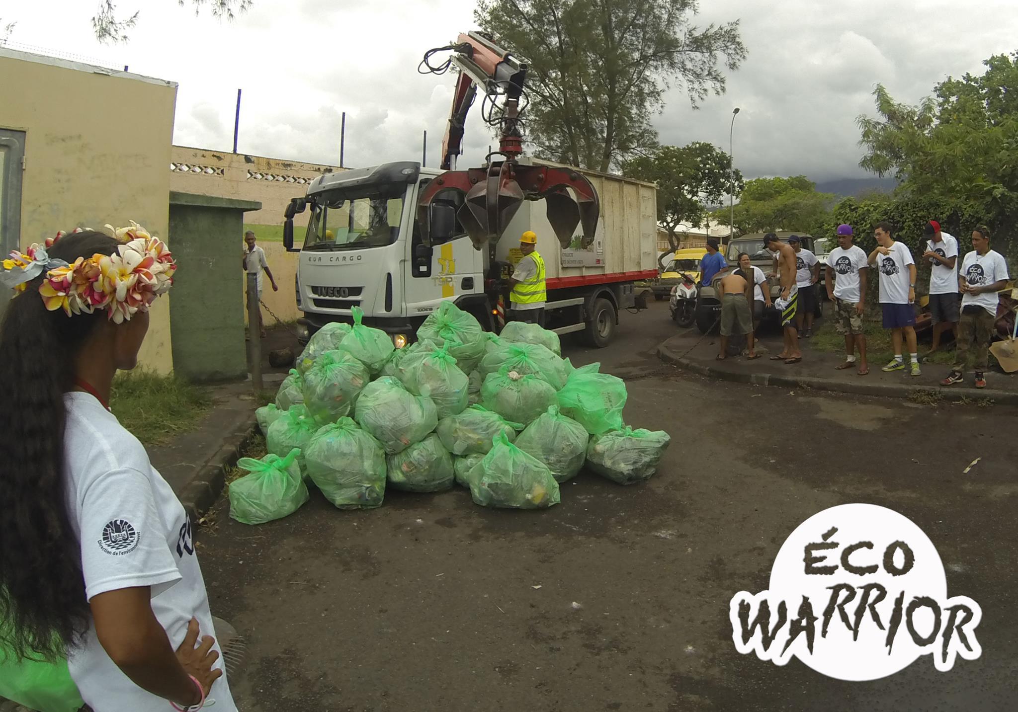 Environ six tonnes et demie de déchets ont été collectées par la Brigade verte sur la commune de Papeete.