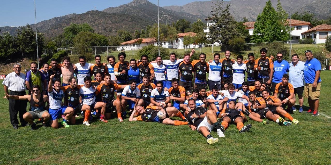Le RC Pirae avec les joueurs de l'Universidad Catolica