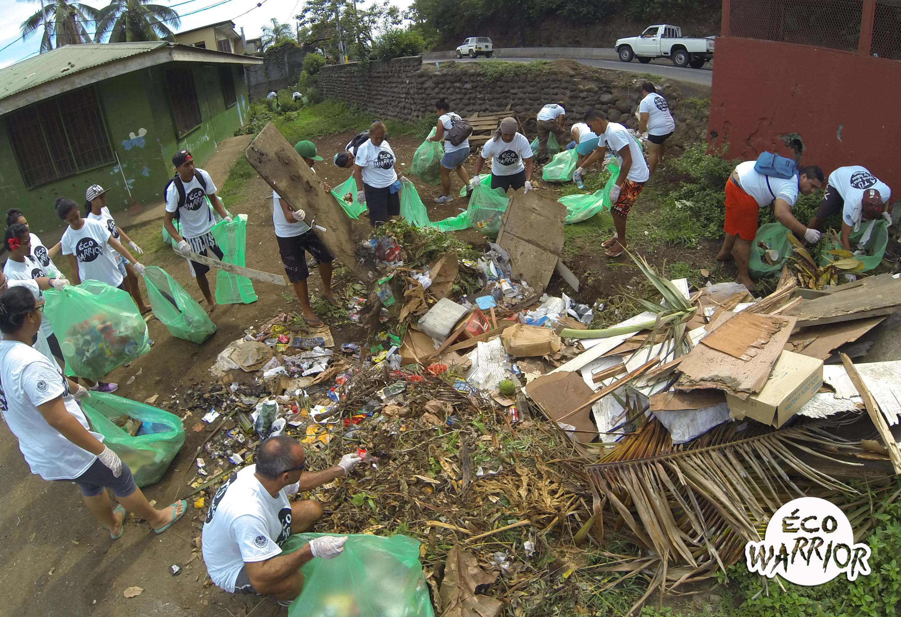 La quatrième et dernière étape de l'opération s'est déroulée hier matin, à Faa'a, portant à 15 tonnes le chiffre total de déchets collectés.