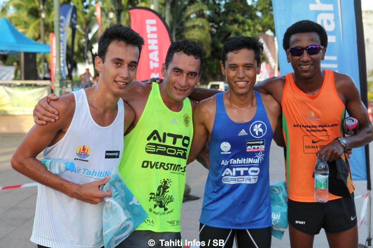 Brian, Teiva, Cédric et Samuel