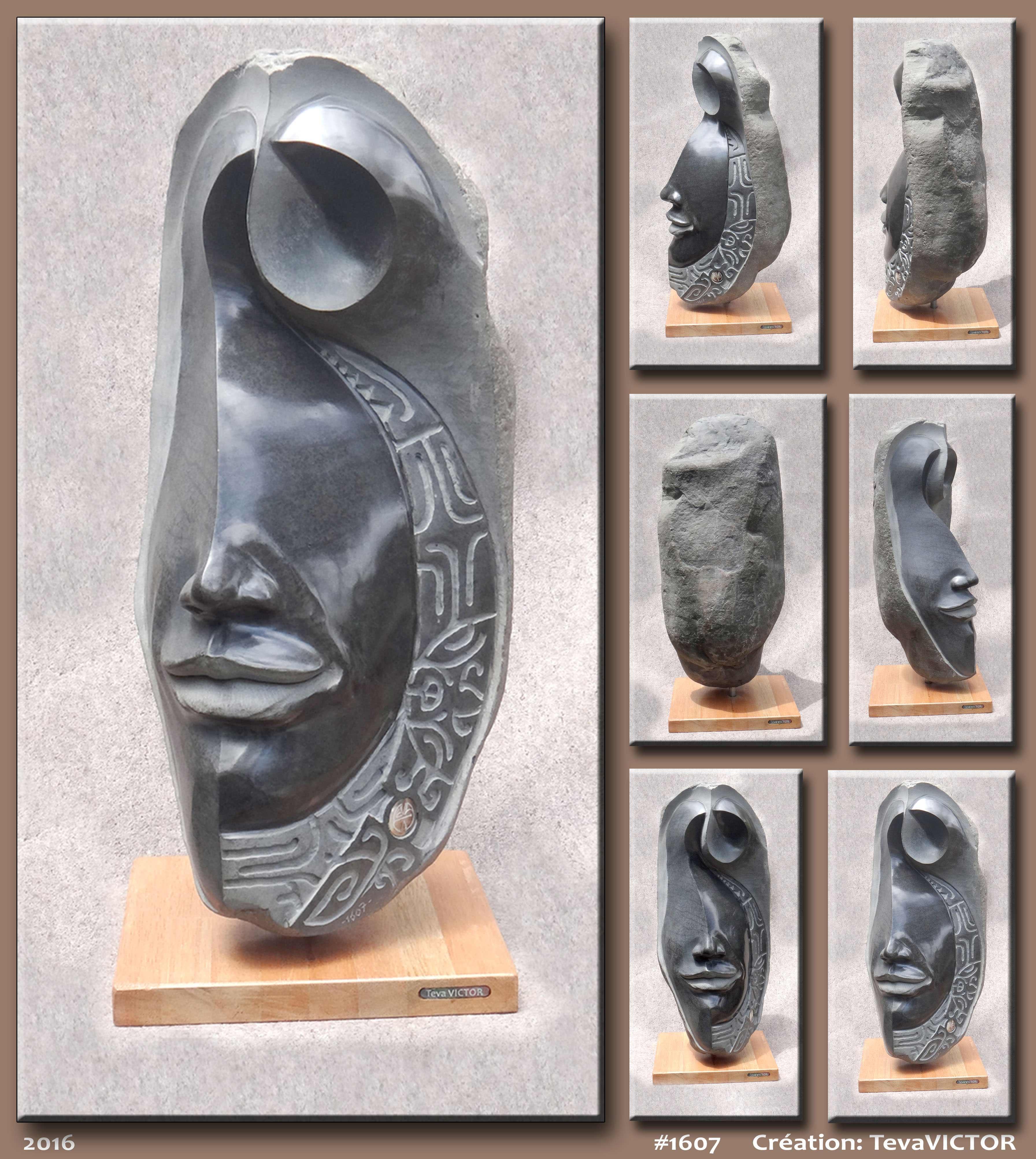 Les œuvres d'art sont caractérisées par des visages métissés d'inspiration polynésienne.