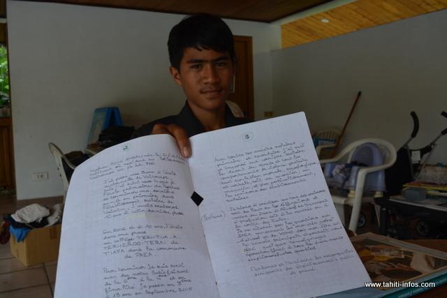 Keyshau raconte dans cette lettre les fléaux que l'on retrouve dans le milieu scolaire. Une lettre qu'il enverra aux différentes autorités du Pays et de l'État.