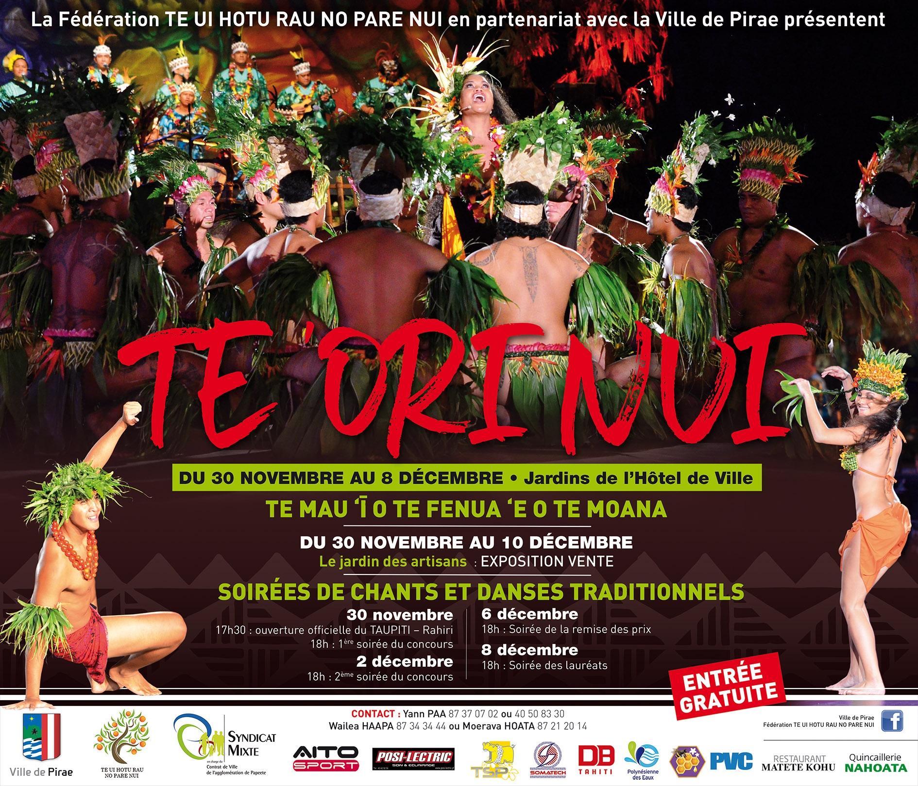 "Pas de concours ""'Ori Nui i Pirae"", ce mercredi soir"