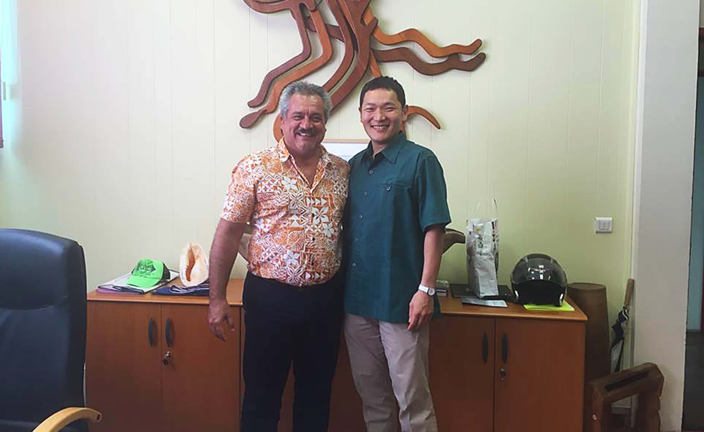 Le ministre de la Culture s'entretient avec Ken Watada