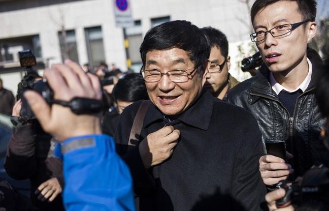 Chen Guangwu, avocat de Nie Shubin, le 22 décembre 2014, à Jinan, en Chine. - FRED DUFOUR / AFP