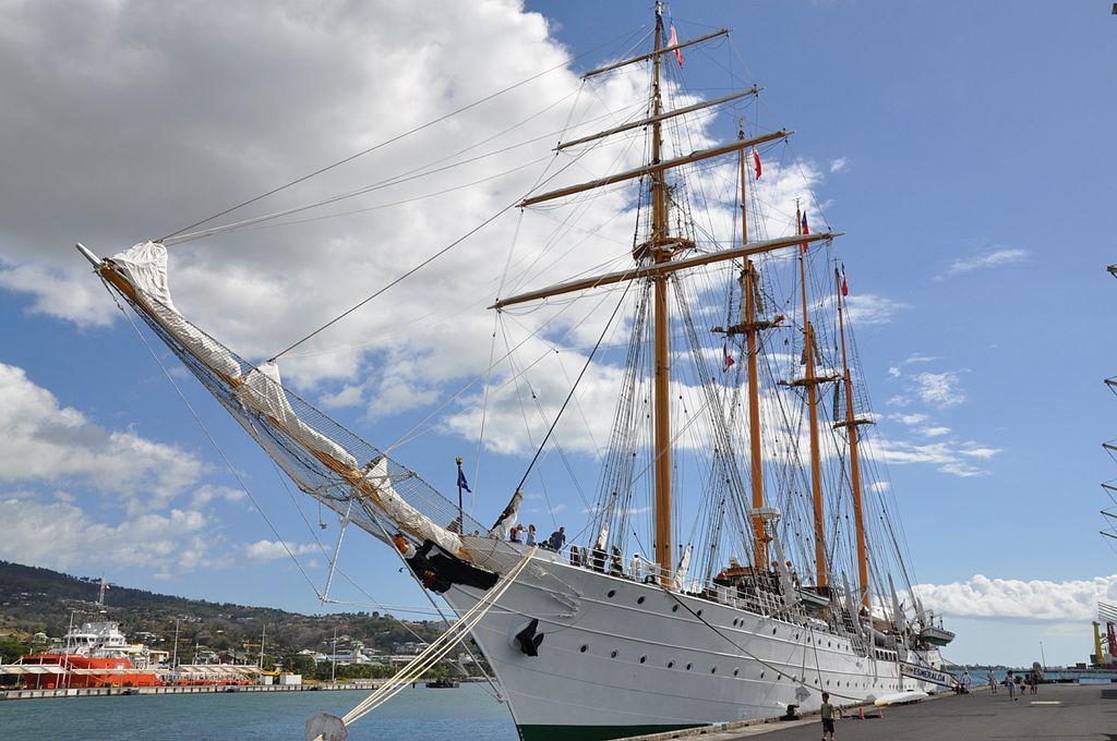 Le bateau-école Esmeralda à Papeete jusqu'au 10 décembre