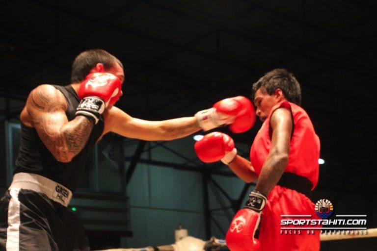 Ce fût trois reprises intenses dans la finale des moyens avec Teahu Faufau (Central Olympic) et Raimana Tunoa (Papenoo BC)