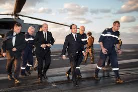 François Hollande est arrivé à bord du Charles-de-Gaulle engagé contre Daech