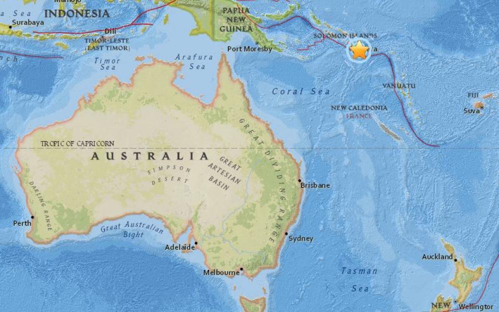 ALERTE: Nouveau fort tremblement de terre - de magnitude 6,9 - au large des îles Salomon (USGS).