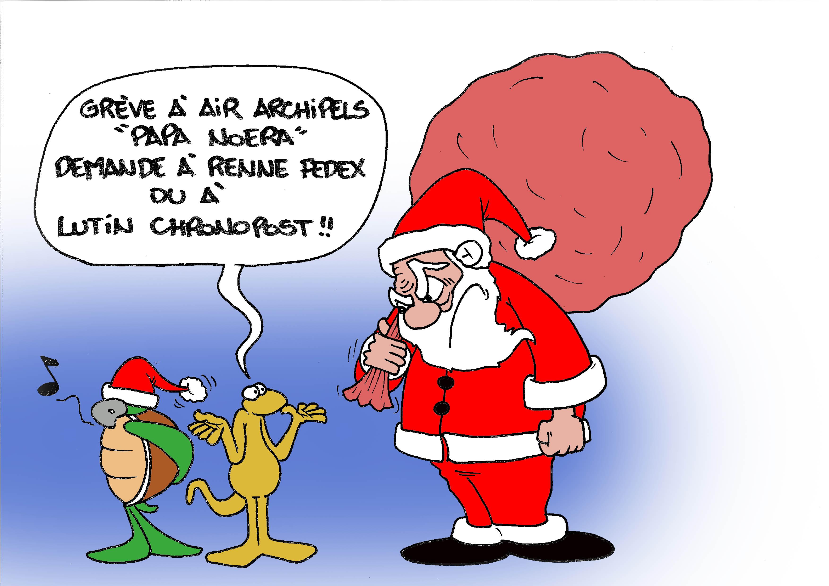 """"""" La grève à Air Archipels """" par Munoz"""