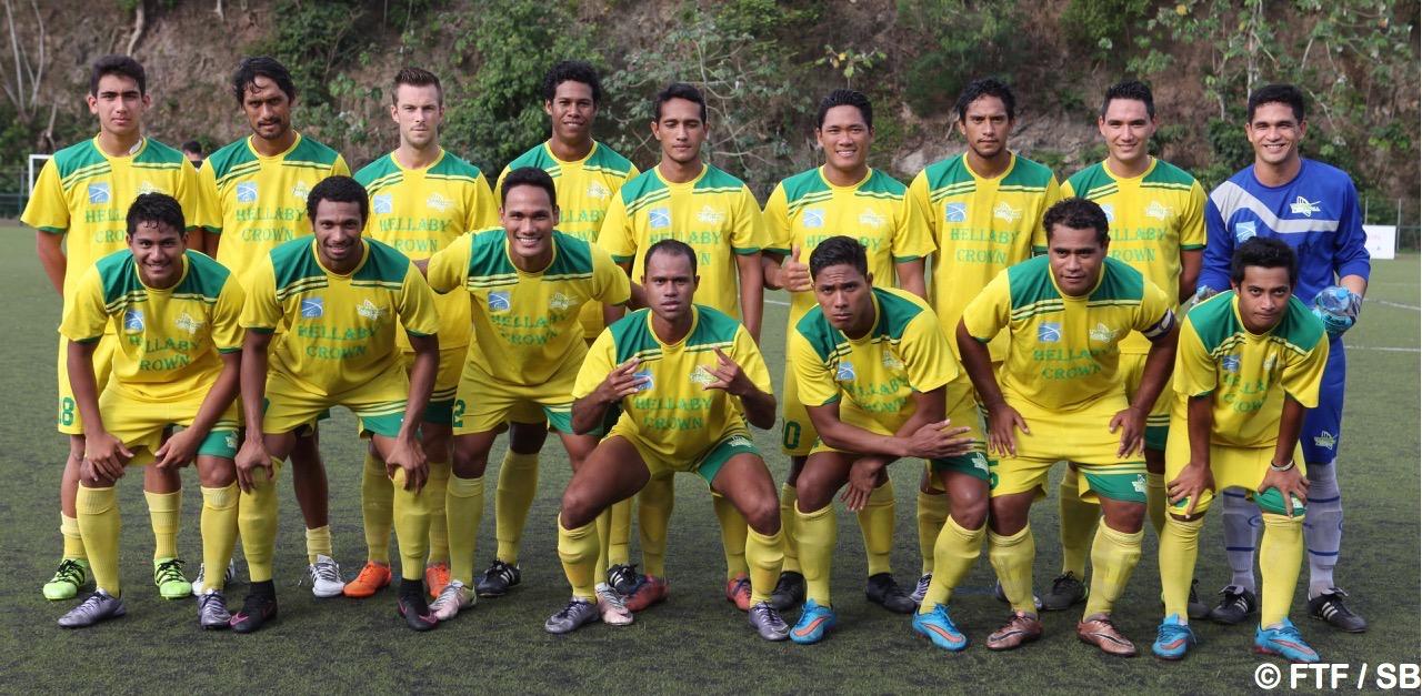 L'équipe de Tefana, actuellement leader du championnat