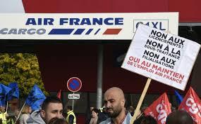 Air France: rassemblement à Roissy contre la filialisation de la maintenance