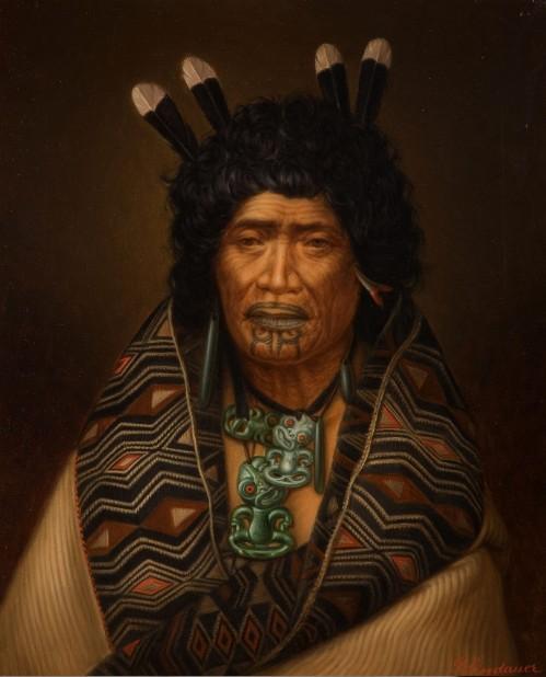 Rangi Topeora, huile sur toile, Auckland Art Gallery Toi o Tamaki, don de Mr. H E Partridge, 1915.