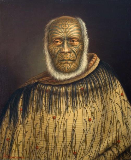 Ihaka Whanga, huile sur toile, Auckland Art Gallery Toi o Tamaki, don de Mr H E Partridge, 1915