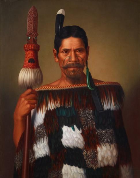 """Mr Paramena, c. 1885, huile sur toile, Musée """"New Zealand Te Papa Tongarewa"""", acheté en 1995"""