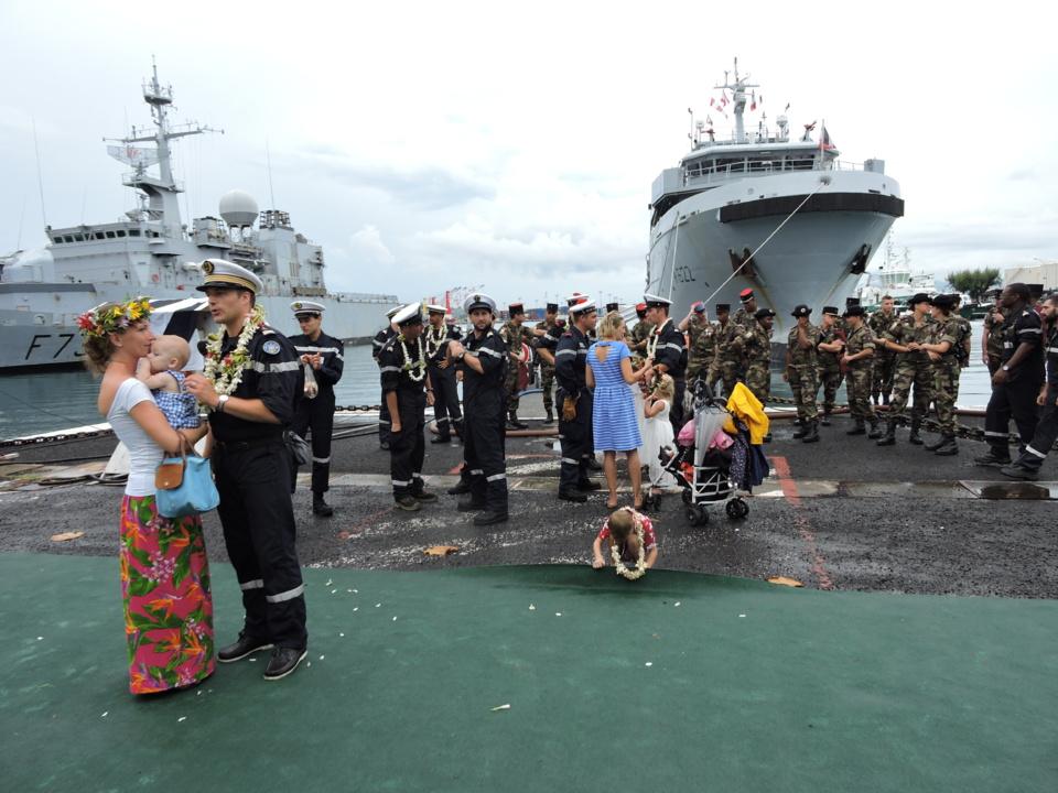 Le Bougainville, un bâtiment multi-missions, est arrivé à Papeete