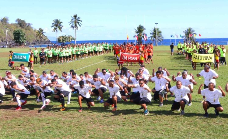 Les délégations lors de la cérémonie d'ouverture.