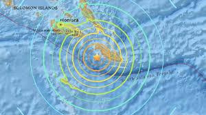 Nouveau fort séisme au large des îles Salomon (USGS)