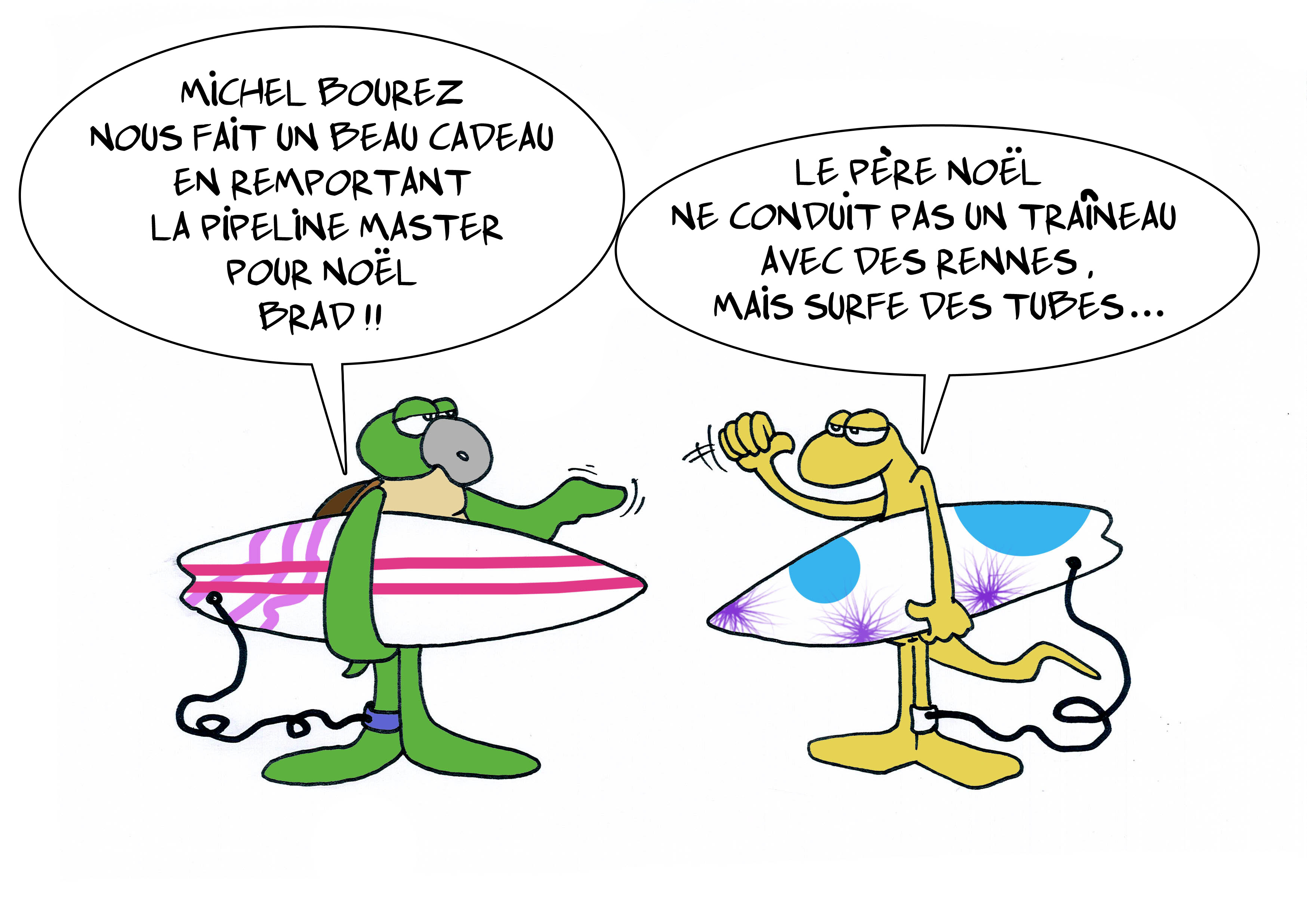 """ Michel papa Noël "" par Munoz"