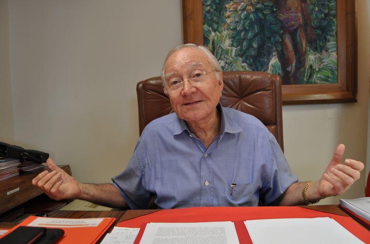 L'ancien président et sénateur de la Polynésie française Gaston Flosse.