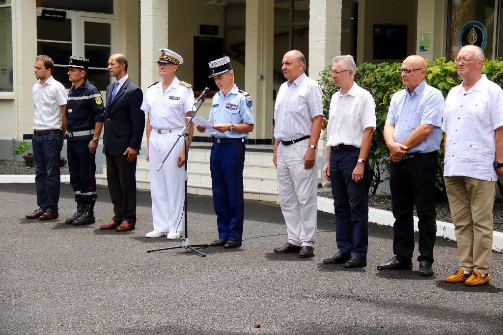 Hommage rendu aux gendarmes décédés accidentellement, le 23 décembre