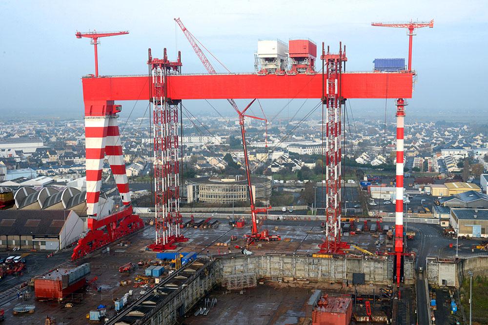 Les chantiers navals de Saint-Nazaire, le dernier fleuron naval français