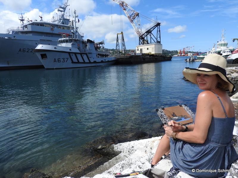 Marie Détrée présentera une vingtaine de gouaches sur le thème de la mer.