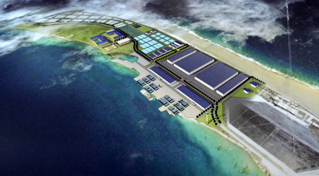 Le futur complexe aquacole de Hao.