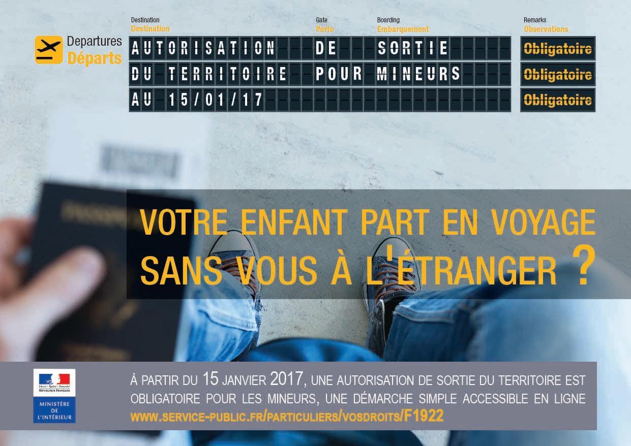 Sortie du territoire pour les mineurs : désormais, il faudra une autorisation des parents