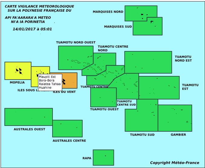 Météo France maintient la vigilance orange pour les îles du Vent