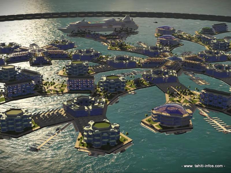 Projet d'île flottante : mise à l'eau prévue en 2018