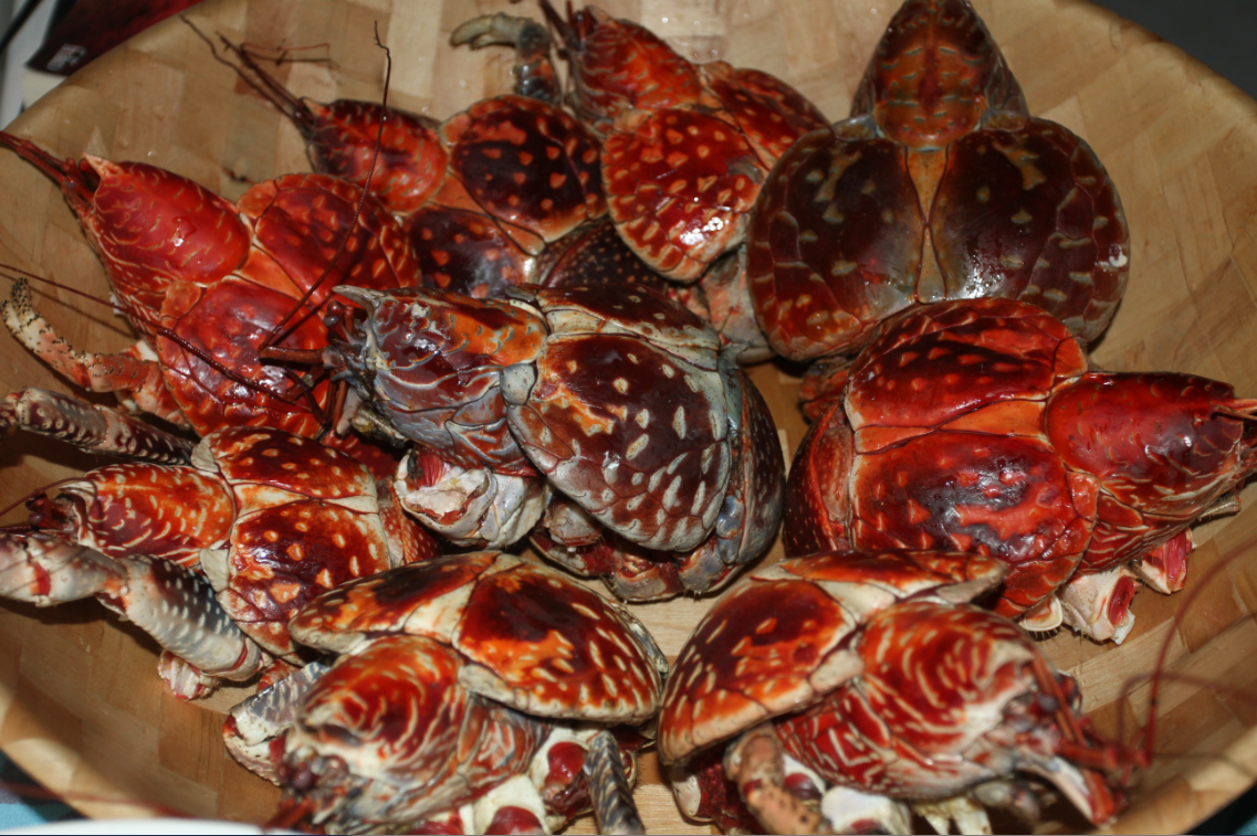 """Le kaveu, un mets délicat, véritable """"foie gras"""" des Tuamotu quand il est bien préparé."""