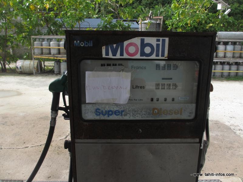 La station essence est à sec depuis plusieurs jours.